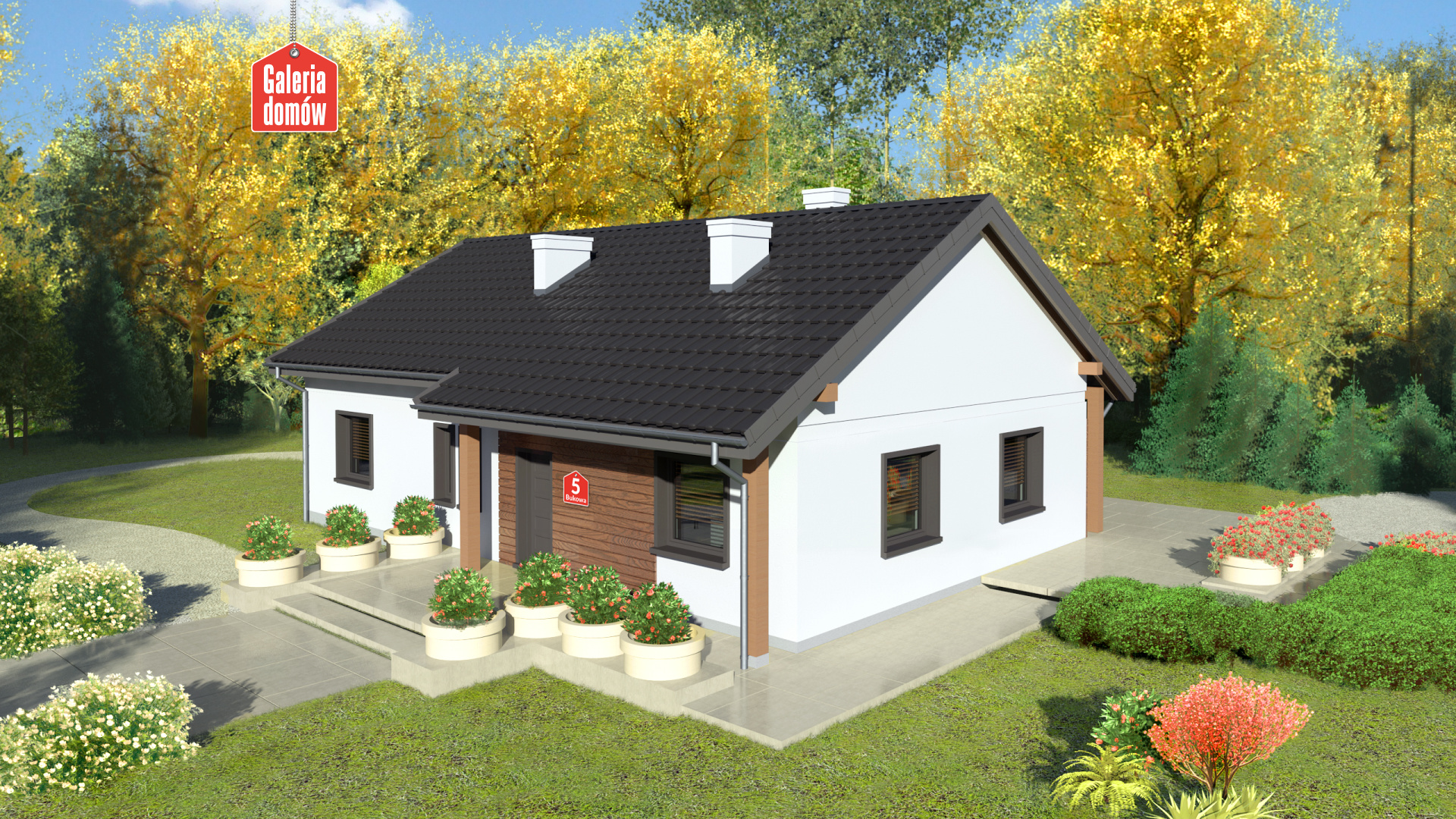 Dom Przy Bukowej 5 Gotowy Projekt Domu Jednorodzinnego