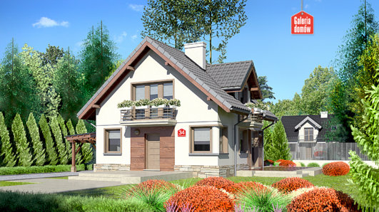 Projekt domu - Dom przy Cyprysowej 34