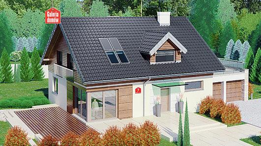 Projekt domu - Dom przy Alabastrowej 7