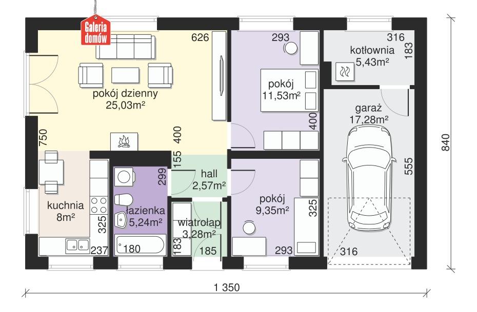 Dom przy Przyjemnej 11 - rzut parteru