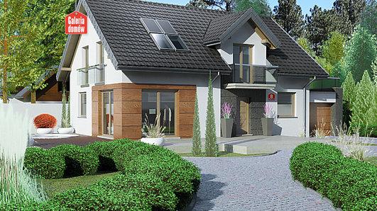 Projekt domu - Dom przy Alabastrowej 8