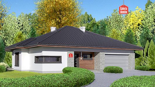 Projekt domu - Dom przy Pastelowej
