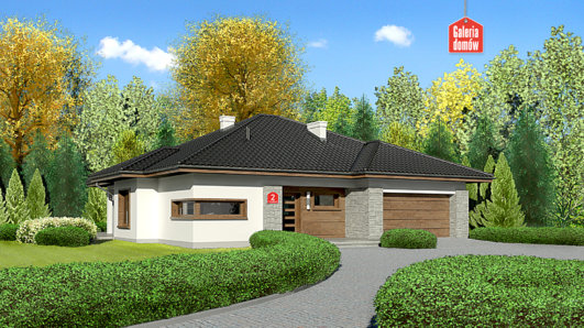 Projekt domu - Dom przy Pastelowej 2