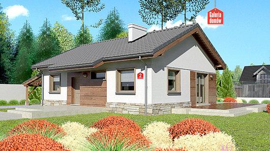 Projekt domu - Dom przy Przyjemnej 2 bis