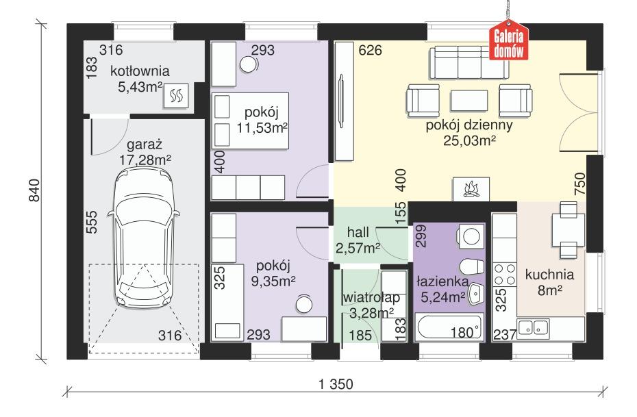 Dom przy Przyjemnej 11 bis - rzut parteru