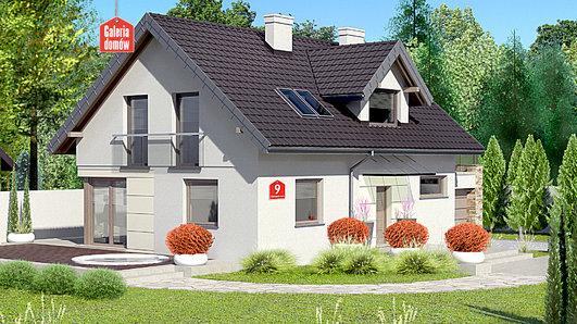 Projekt domu - Dom przy Alabastrowej 9