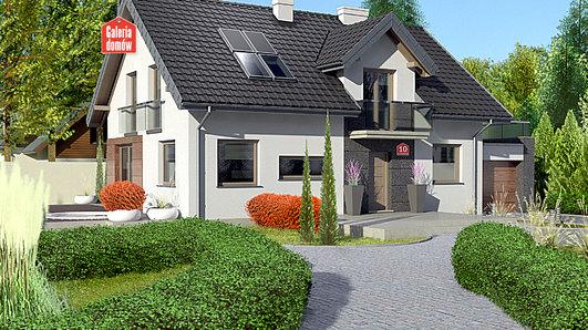 Projekt domu - Dom przy Alabastrowej 10