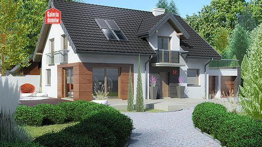 Projekt domu - Dom przy Alabastrowej 12