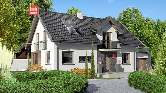 Projekt domu - Dom przy Alabastrowej 14