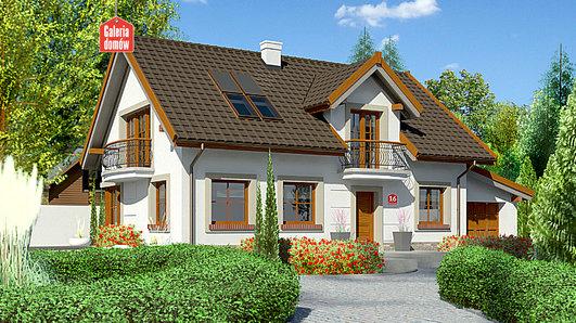 Projekt domu - Dom przy Alabastrowej 16