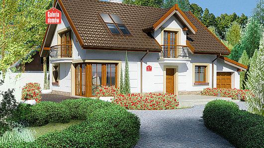 Projekt domu - Dom przy Alabastrowej 17