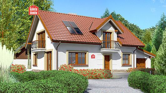 Projekt domu - Dom przy Alabastrowej 18
