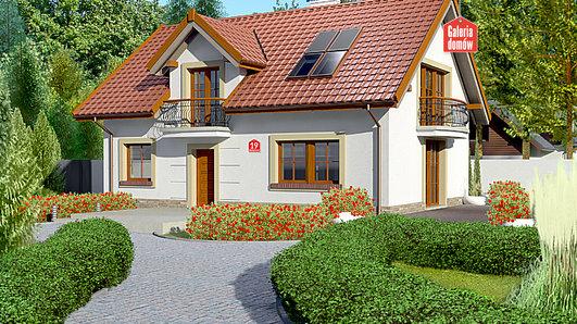 Projekt domu - Dom przy Alabastrowej 19