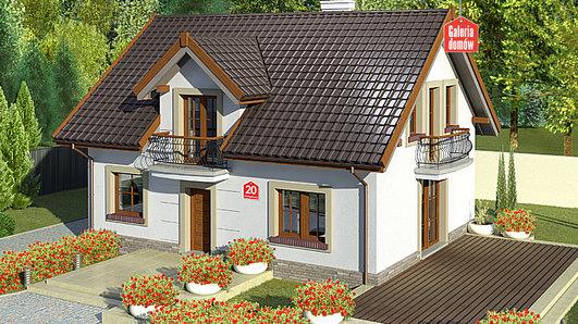 Projekt domu - Dom przy Alabastrowej 20