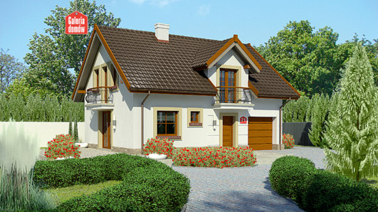 Projekt domu - Dom przy Alabastrowej 21