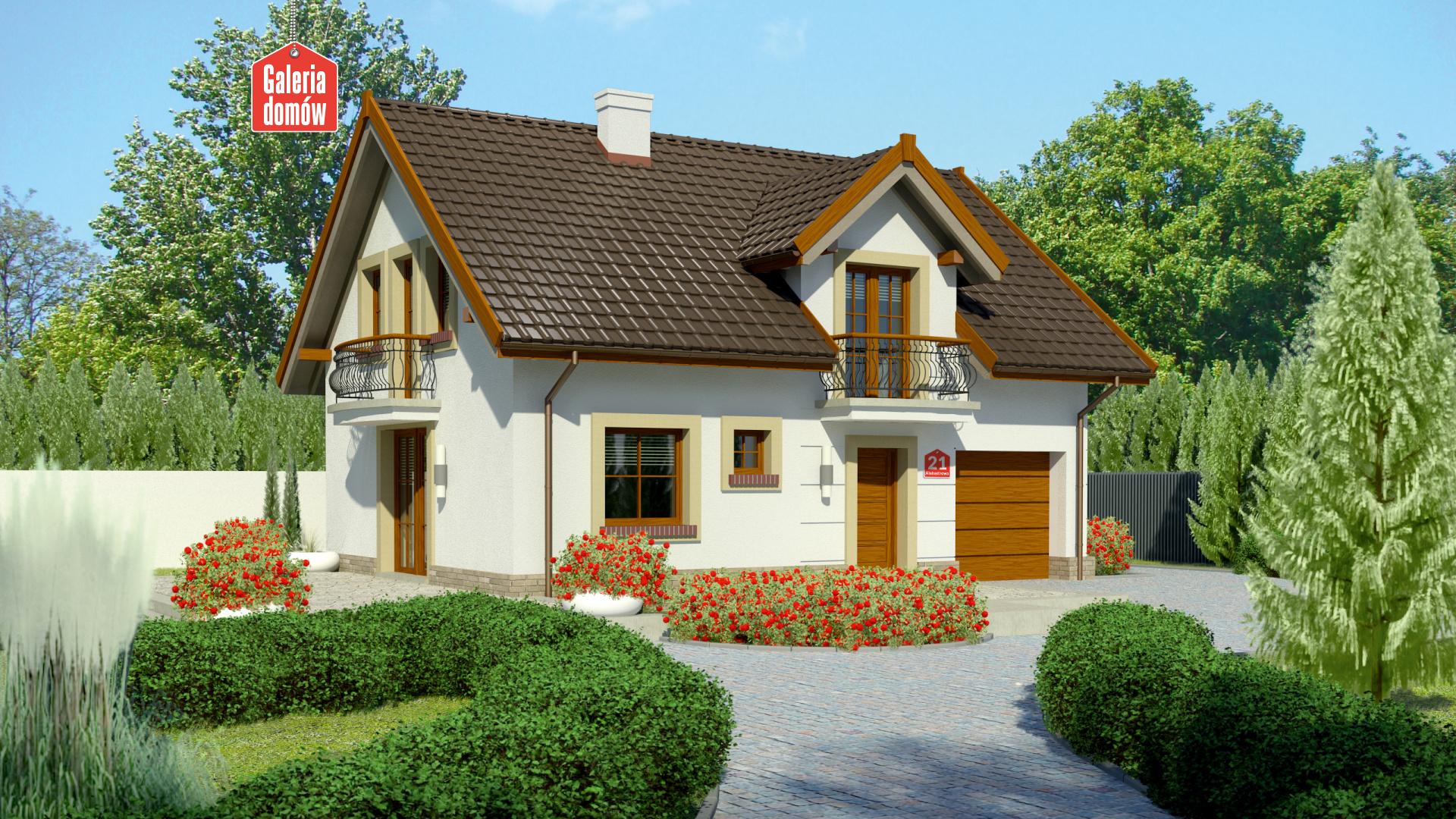 Dom Przy Alabastrowej 21 Gotowy Projekt Domu Jednorodzinnego