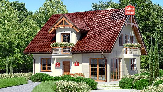 Projekt domu - Dom przy Wiosennej 5