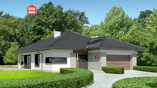 Projekt domu - Dom przy Pastelowej 3