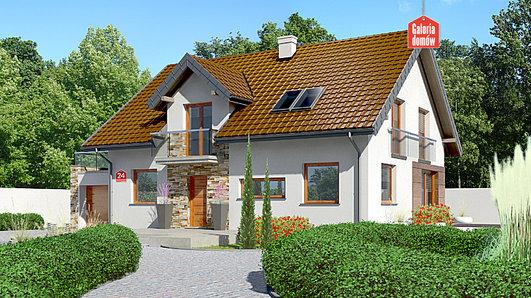 Projekt domu - Dom przy Alabastrowej 24