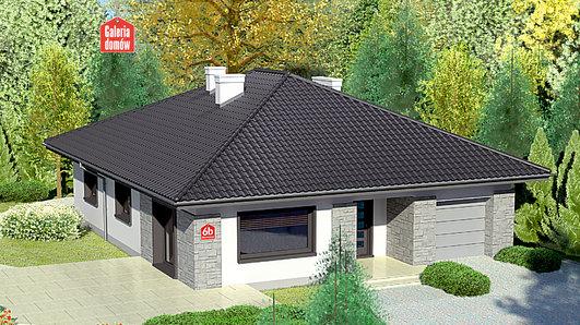 Projekt domu - Dom przy Słonecznej 6 bis