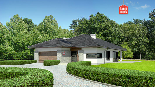 Projekt domu - Dom przy Pastelowej 3 bis