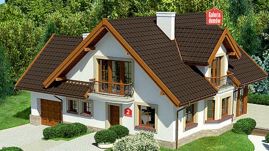 Projekt domu - Dom przy Pomarańczowej 2
