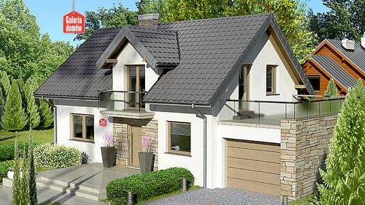 Projekt domu - Dom przy Alabastrowej 26