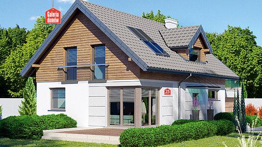 Projekt domu - Dom przy Alabastrowej 25