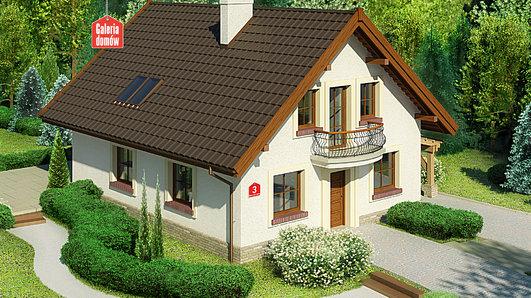 Projekt domu - Dom przy Pomarańczowej 3