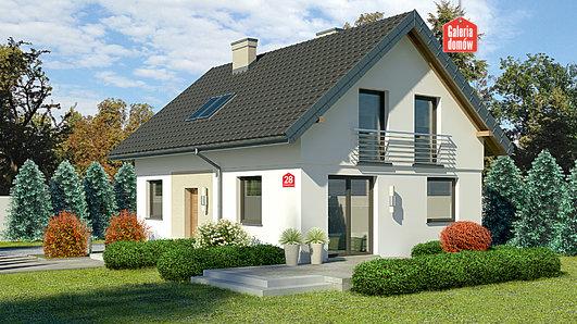 Projekt domu - Dom przy Alabastrowej 28