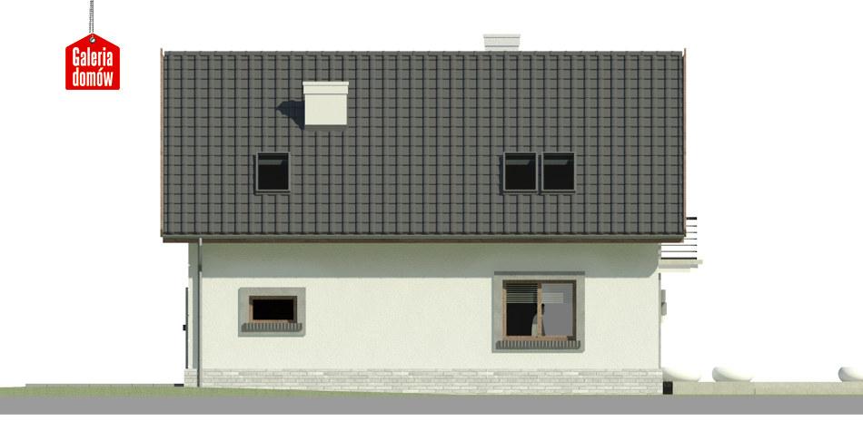 Dom przy Alabastrowej 33 - elewacja lewa
