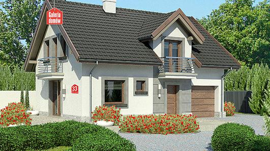 Projekt domu - Dom przy Alabastrowej 33