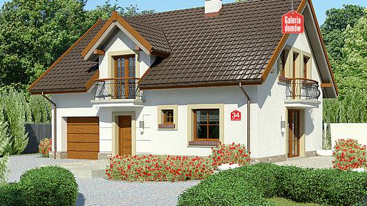 Projekt domu - Dom przy Alabastrowej 34