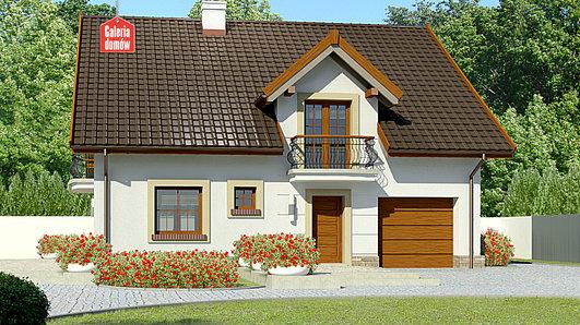 Projekt domu - Dom przy Alabastrowej 36