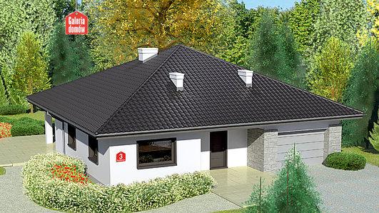 Projekt domu - Dom przy Rubinowej 3 bis