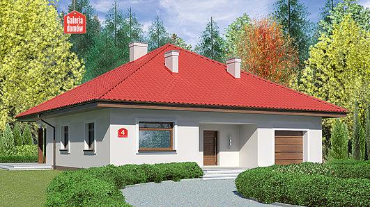 Projekt domu - Dom przy Rubinowej 4