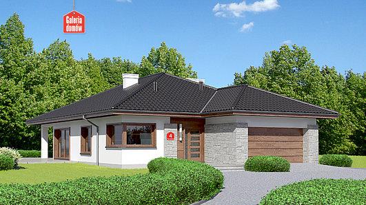 Projekt domu - Dom przy Pastelowej 4