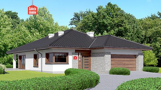 Projekt domu - Dom przy Pastelowej 6