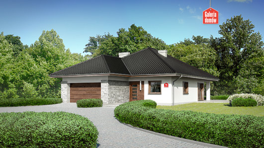 Projekt domu - Dom przy Pastelowej 7 bis
