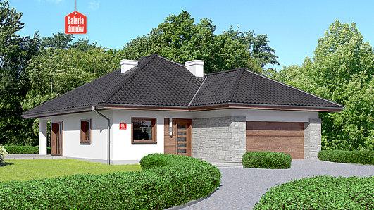 Projekt domu - Dom przy Pastelowej 8 bis