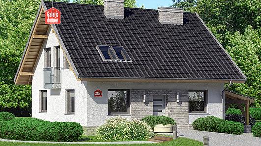 Projekt domu - Dom przy Cyprysowej 20 N