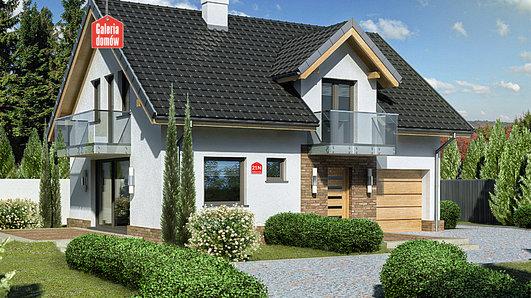 Projekt domu - Dom przy Alabastrowej 21 N