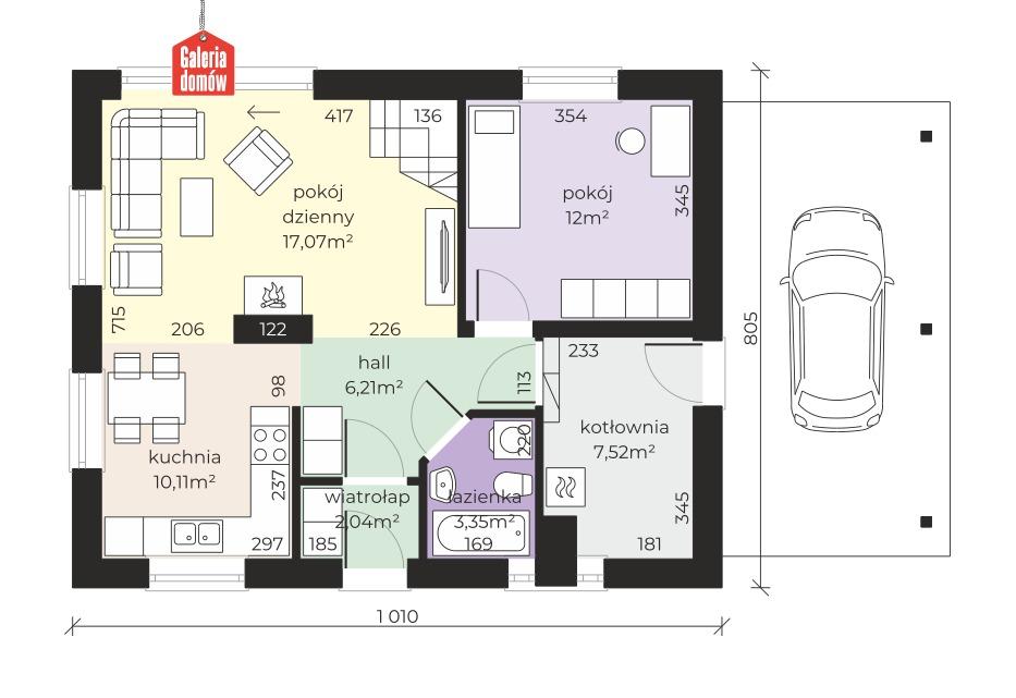 Dom przy Imbirowej 4 N - rzut parteru