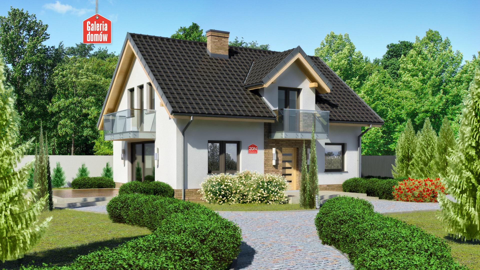 Dom Przy Alabastrowej 20 N Gotowy Projekt Domu Jednorodzinnego