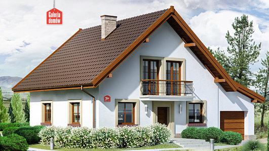 Projekt domu - Dom przy Oliwkowej 3 H