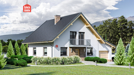Projekt domu - Dom przy Oliwkowej 3 NH