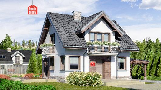 Projekt domu - Dom przy Wiosennej 6