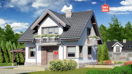 Projekt domu - Dom przy Wiosennej 7