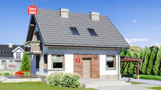Projekt domu - Dom przy Wiosennej 8