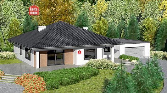 Projekt domu - Dom przy Makowej 2 bis